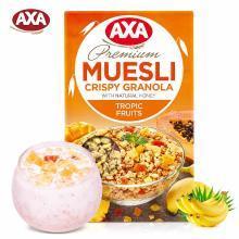 【满199减20】AXA(瑞典)进口热带水果即食麦片270g脆麦片早餐冲饮(满50包邮)