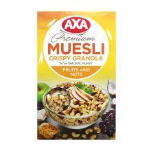 【满199减20】AXA(瑞典)进口水果坚果即食麦片250g脆麦片早餐冲饮(满50包邮)