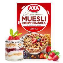 【满199减20】AXA(瑞典)进口水果浆果即食麦片270g脆麦片早餐冲饮(满50包邮)