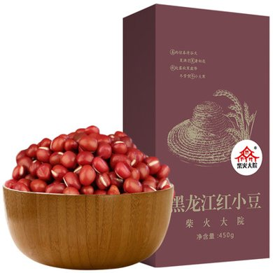 柴火大院黑龍江紅小豆 五谷雜糧 紅小豆 東北粗糧450g