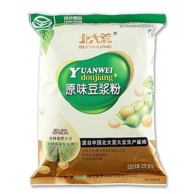 北大荒豆漿粉原味豆漿粉350g非轉基因無蔗糖營養早餐速溶沖飲豆粉