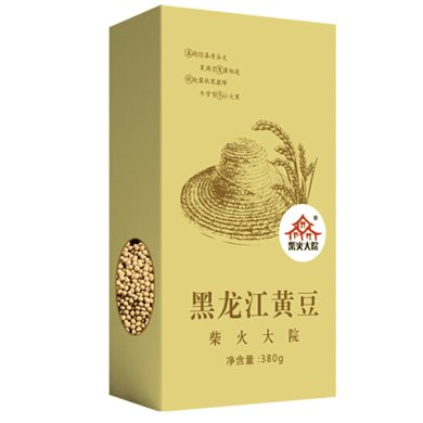 柴火大院黃豆380g盒裝 現磨打豆漿生豆芽豆漿豆