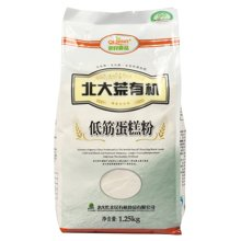 北大荒有機低筋蛋糕粉1.25kg 烘焙原料低筋面粉 生產日期為2018年11月17日,保質期12個月 (滿50元,包郵)