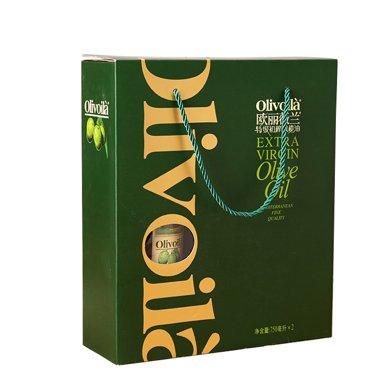 欧丽薇兰特级初榨橄榄油简装礼盒(750ml*2)