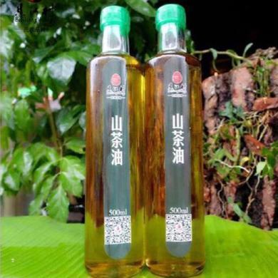 【广西特产】土特产 广西融水贝江村 食用山茶油 传统压榨 纯天然 山茶籽油500g瓶