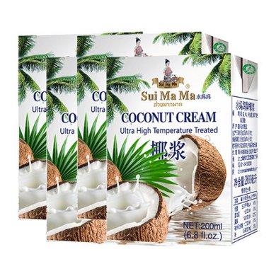 進口水媽媽椰漿200ml*1椰汁西米露甜品原料咖喱伴侶