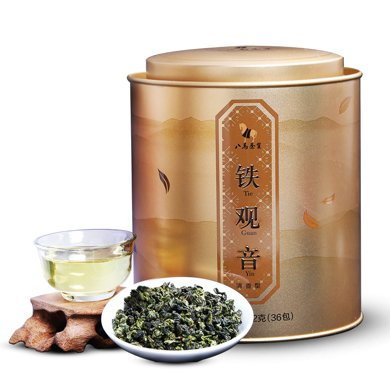 八马茶叶 金罐 清香型安溪铁观音茶叶 罐装252克 AA1259