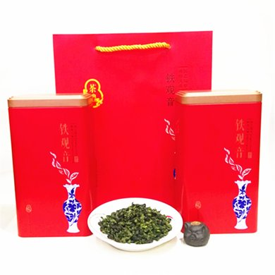 幽丛福建安溪铁观音 乌龙茶铁罐礼盒 健康食品韵香茶叶250gZF005