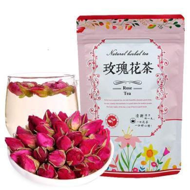 滇邁 山東平陰玫瑰花茶5袋 共250G精選無硫花茶粉玫瑰花草茶包裝
