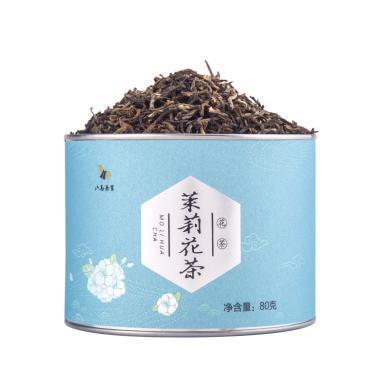 八馬茶業 茉莉花茶 花草茶茶葉罐裝80g E0065