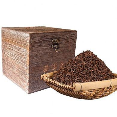 云南普洱茶陳香老茶 勐海普洱茶熟茶散茶 500克復古木箱裝