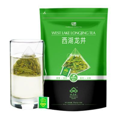 2019新茶西湖龍井茶葉三角袋泡茶杭州綠茶原葉茶水品元冷泡茶3袋45泡SPY07