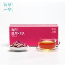 【送精美玻璃杯】优茶一笙玫瑰花红茶袋泡茶玫瑰红茶干玫瑰组合花茶花草茶包邮
