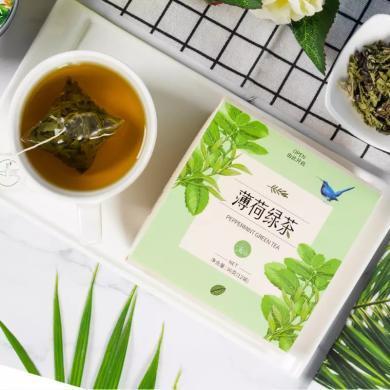 立尚 薄荷綠茶 提神醒腦防瞌睡解困茶清涼薄荷葉組合茶飲 三角茶12袋裝