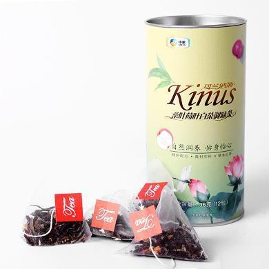 中糧Kinus可蘭納斯桑葉荷葉白茶調味茶3g*12袋