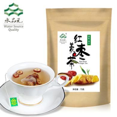 水品元紅棗姜茶原味老姜茶袋泡茶包生姜顆粒干姜茶老姜湯姜母茶3袋SPY09