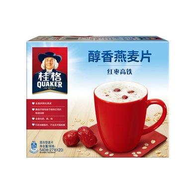 #桂格醇香燕麦片红枣高铁(20×27g)