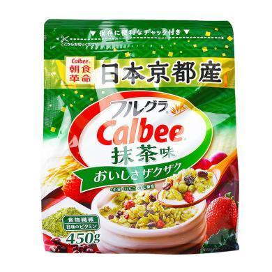 Calbee抹茶味水果麥片(450g)
