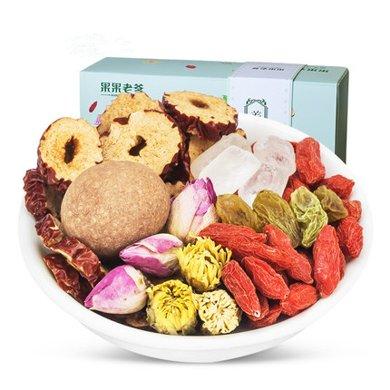 果果老爹 特產枸杞桂圓紅棗茶 八寶茶216g/盒 菊花茶