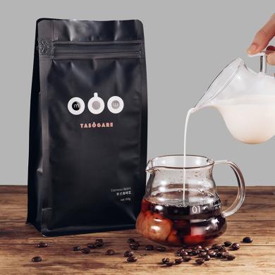 隅田川意式咖啡豆454g精品油脂袋特濃咖啡粉純黑豐富