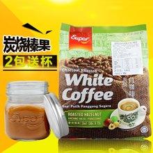 马来西亚进口 怡保SUPER超级炭烧香烤榛果味速溶炭烧白咖啡 540G