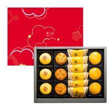 郭元益月集锦礼盒装台湾进口传统凤梨酥豆沙多口味台式月饼中秋节礼盒