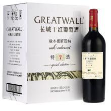 長城(GreatWall)紅酒 特選7年橡木桶解百納干紅葡萄酒 整箱裝 750ml*6瓶