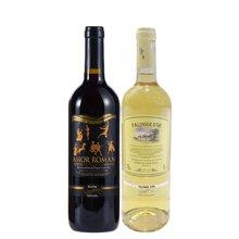 【組合裝】品悅  意大利原瓶進口 愛上羅馬紅葡萄酒 750mL+金棕櫚甜白葡萄酒 750ml 包郵