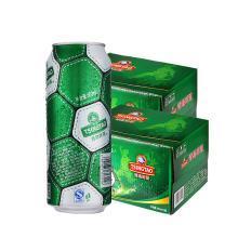 青岛啤酒足球罐啤酒10度500ml*12听 2箱装 共24听实惠组合装