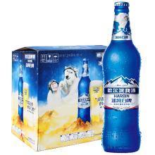 哈尔滨(Harbin)冰纯白啤 小麦啤酒 500ml*12瓶 整箱装