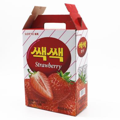 韩国进口饮料乐天 草莓汁饮料饮品238ml *12瓶罐装进口果汁包 邮