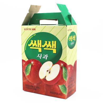 韩国进口饮料LOTTE乐天苹果汁238ml*12瓶 果味饮品包邮