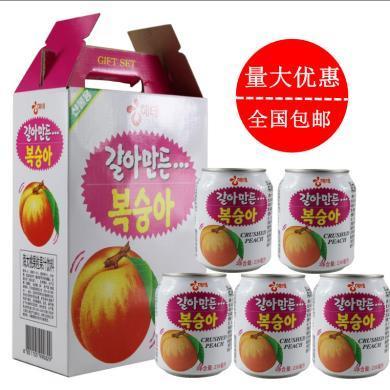 整箱送禮韓國進口海太 水蜜桃飲料 蜜桃果汁飲品238mlX12罐