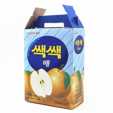 韩国进口饮料 LOTTE乐天梨汁238ml 夏日果味梨子汁整箱包邮