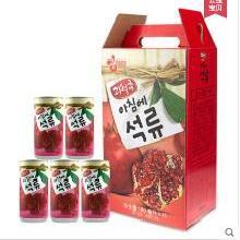 韩国进口饮料/海太石榴汁/180mL*15瓶韩国果汁/15听装整箱