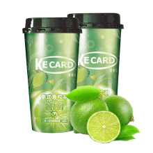可卡士 泰式青檸茶480ml*2杯裝 水果茶柚子茶蜂蜜柚子茶