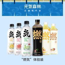 元気森林元氣燃茶果茶氣泡水網紅飲料組合元氣森林體驗裝6瓶裝