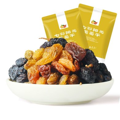 【新疆特產】西域美農 零食 蜜餞果干 新疆特產 提子干七彩葡萄干年貨