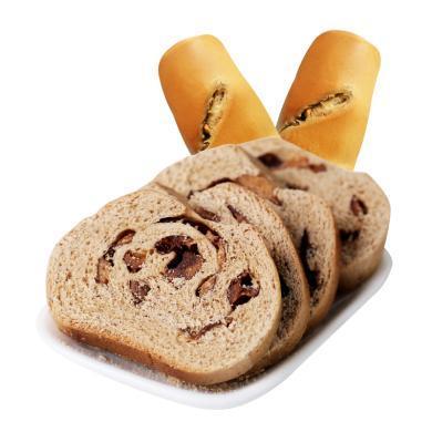 【西域美農_大列巴】早餐面包烘烤手撕果仁無花果、紅棗大列巴400g零食糕點