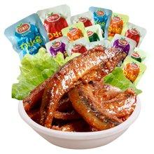 口水娃口水鱼湖南特产零食香辣味小鱼仔批发小鱼干即食麻辣鱼小吃