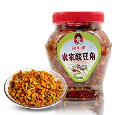 【湖南特产】湖南特产辣小董农家酸豆角450g 农家自制酸豇豆 瓶装老坛子菜