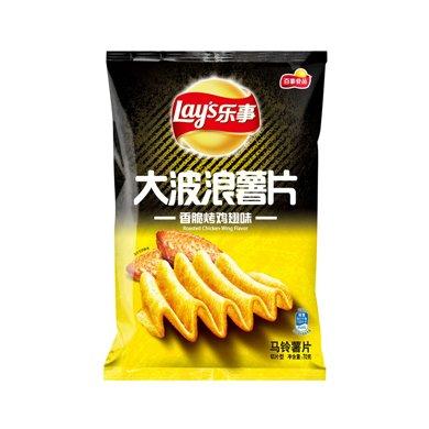 #乐事大波浪薯片香脆烤鸡翅味(70g)