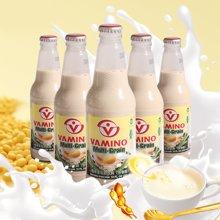 泰國VAMINO豆奶飲料 進口哇米諾 原味豆奶飲品300ml*5瓶玻璃瓶裝