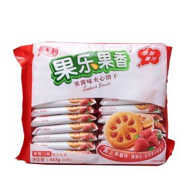 嘉士利果樂果香果醬味夾心餅干(草莓味)(443g)(443g)