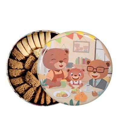 珍妮曲奇小熊餅干奶油咖啡四味640g禮盒jenny手工曲奇