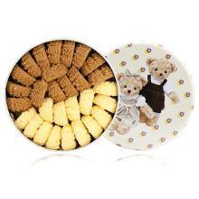 【順豐包郵】珍妮曲奇 雙花雙味640g 手工曲奇餅干糕點 年節送禮