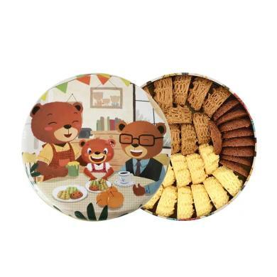 【顺丰包邮】珍妮曲奇 四味320g 手工零食饼干