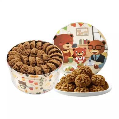 【顺丰包邮】珍妮曲奇 咖啡花640g 饼干糕点手工曲奇 年节送礼