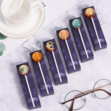 星空棒棒糖6支裝網紅創意過年新年糖果禮盒棒棒糖送女友