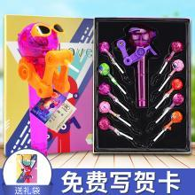 星空棒棒糖糖果禮盒抖音同款網紅機器人兒童吃糖玩具糖